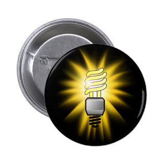 Energy Saver Light Bulb - A Bright Idea 2 Inch Round Button