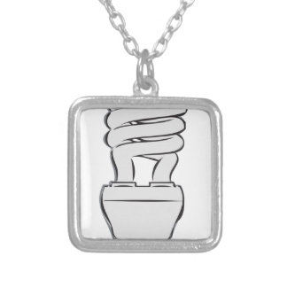 Energy Saving Light Silver Plated Necklace