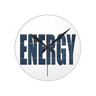 Energy solar panels round clock