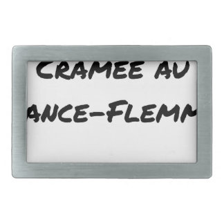 ENERGY WHICH BEEN ON FIRE WITH the LANCE-FLEMME - Rectangular Belt Buckle
