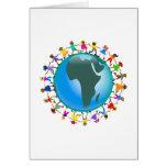 Enfants africains carte de vœux