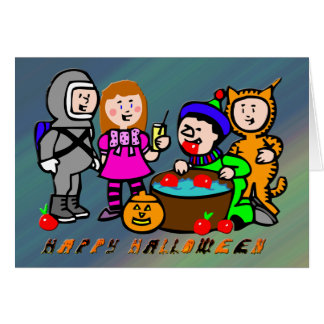 Enfants de Halloween Carte De Vœux