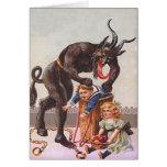 Enfants de kidnapping de Krampus Carte De Vœux