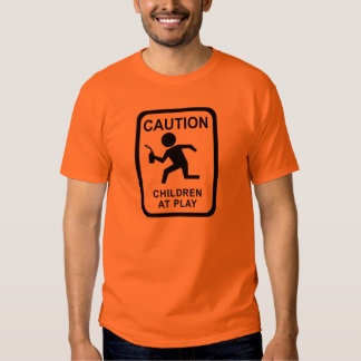 Enfants de précaution au jeu - torche tee shirt