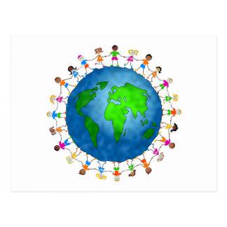 Enfants globaux cartes postales