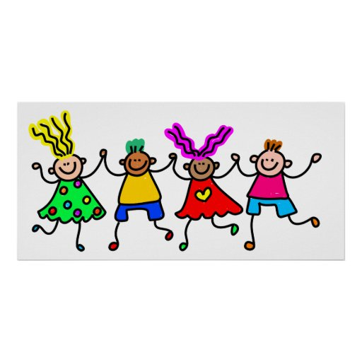 Enfants heureux poster