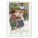 Enfants néerlandais - une salutation de Noël Cartes De Vœux