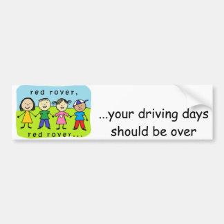 Enfants rouges de vagabond autocollant de voiture