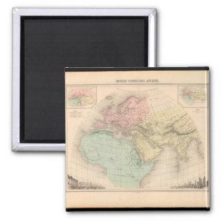 Enfeebled World Map 17 Square Magnet