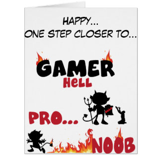 Enfer de Gamer Carte De Vœux Grand Format