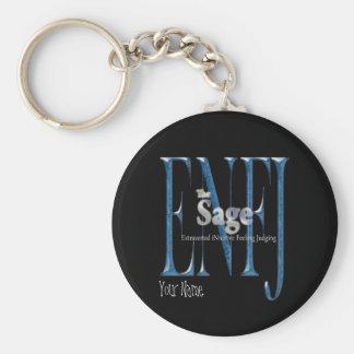 ENFJ theSage Basic Round Button Keychain