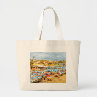 Engabao Beach at Guayas District Ecuador Large Tote Bag