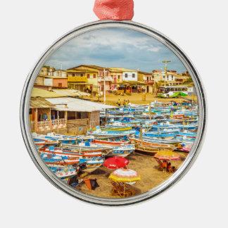 Engabao Beach at Guayas District Ecuador Metal Ornament