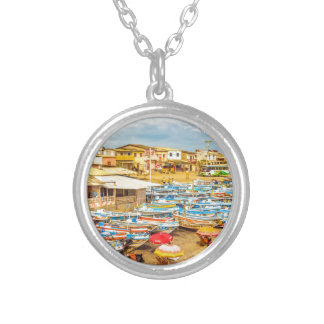 Engabao Beach at Guayas District Ecuador Silver Plated Necklace