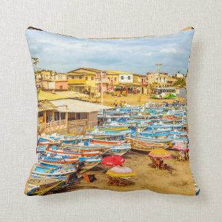 Engabao Beach Guayas Province Ecuador Throw Pillow