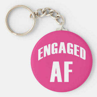Engaged AF funny keychain