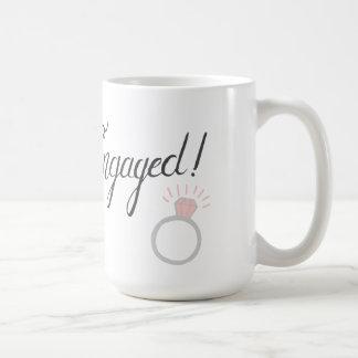 Engaged! coffee mug