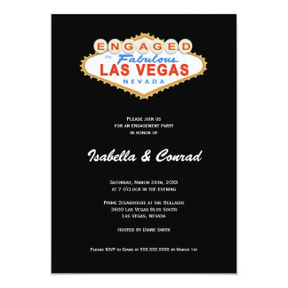 Engaged in Las Vegas Sign Engagement Party Invite