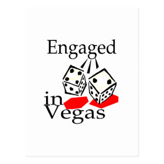 Engaged In Vegas Post Card