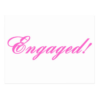 Engaged Post Card