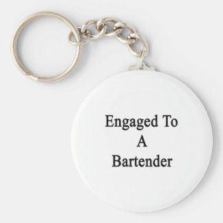 Engaged To A Bartender Basic Round Button Keychain