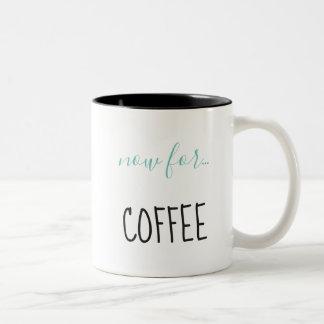 Engaged with coffee Two-Tone coffee mug