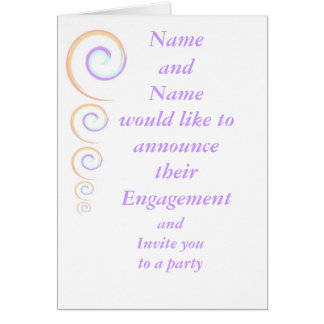 Engagement Announcement and Party Invitation Greeting Card