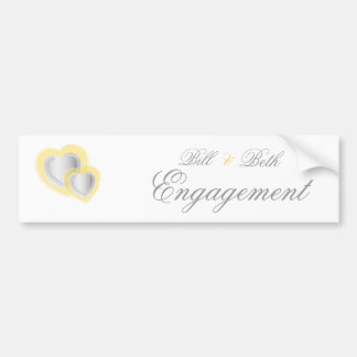 Engagement Bumper Sticker - Customize - Customized