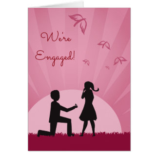 Engagement Card With Couple