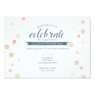Engagement Celebration Confetti in Navy Card