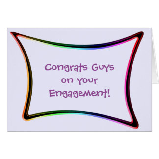 Engagement Congratulations Card for Gay Grooms