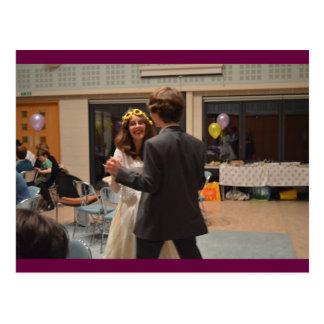 Engagement Dancing Postcard