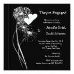 "Engagement Fireworks Invitation 5.25"" Square Invitation Card"