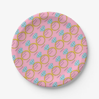 engagement paper plate
