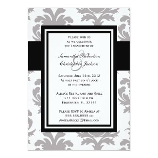 Engagement Party Elegant Vintage Wedding Invite