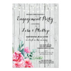 Engagement Party Rustic Shower Red Floral Invite
