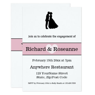 Engagement Party Silhouette Couple Card