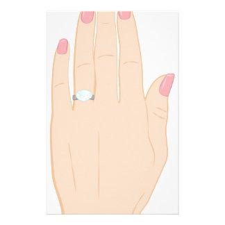 Engagement Ring Customized Stationery