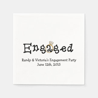 Engagement Ring Engagement Party Paper  Napkins Disposable Napkins
