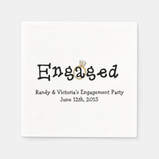 Engagement Ring Engagement Party Paper  Napkins Paper Napkins