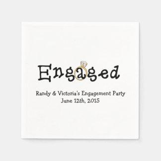 Engagement Ring Engagement Party Paper  Napkins Paper Napkins