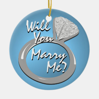 "Engagement Ring ""Marry Me"" Ceramic Ornament"