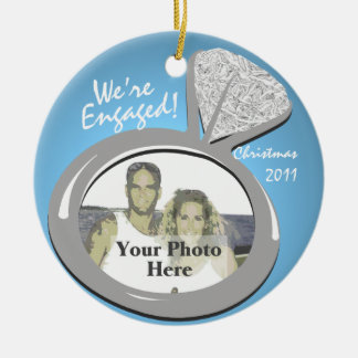 Engagement Ring Photo Round Ceramic Ornament