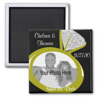 Engagement Ring/ Save the Date Square Magnet