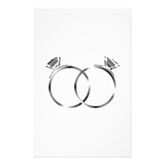 Engagement rings- signs of matrimony stationery paper