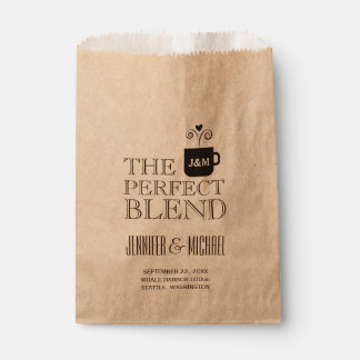 Engagement Wedding Coffee or Tea Buffet Favour Bag
