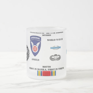 Engagements of  the 11th Airborne Division Frosted Glass Coffee Mug