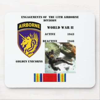 Engagements of  the 13th Airborne Division Mouse Pad