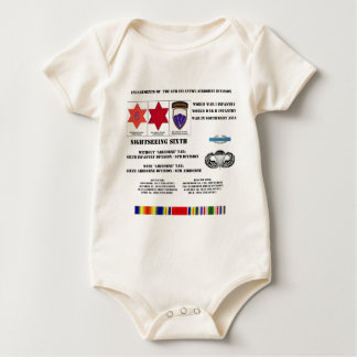 Engagements of  the 6th Infantry/Airborne Division Baby Bodysuit