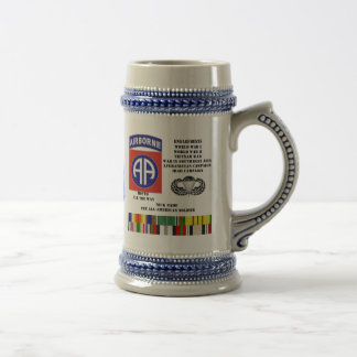 Engagements of  the 82nd  airborne division beer stein